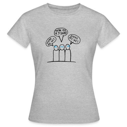 Transparent Blue Eyes Guys 'on a t-shirt' - Women's T-Shirt