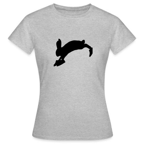 Bunny_Logo_Black - Dame-T-shirt