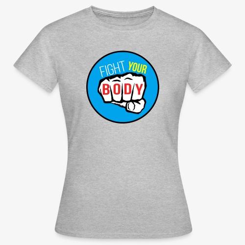 logo fyb bleu ciel - T-shirt Femme