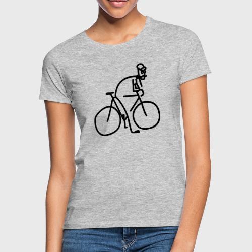 Vélo et cycliste à moustaches - T-shirt Femme