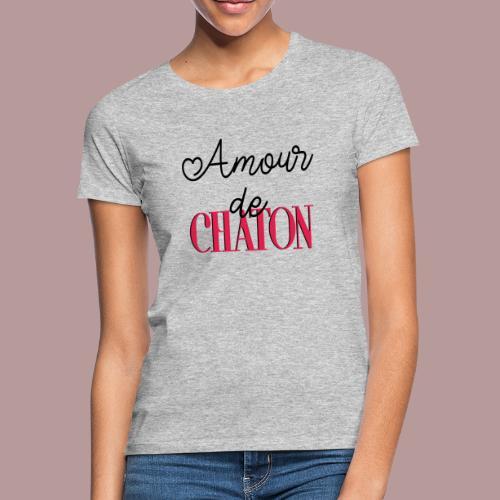 Amour de chaton - T-shirt Femme