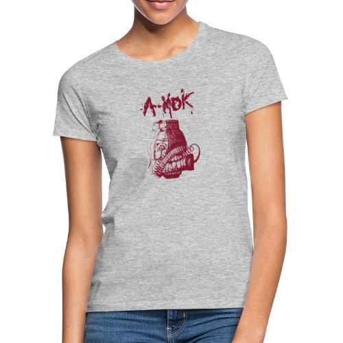 AMOK Grenade Logo Rot - Frauen T-Shirt