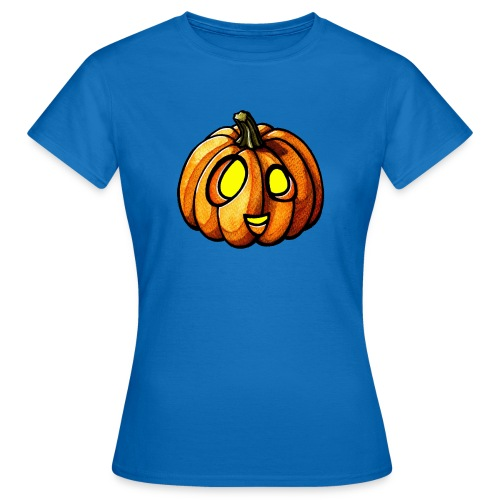 Pumpkin Halloween watercolor scribblesirii - Dame-T-shirt