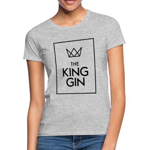 The King Gin Logo schwarz RGB Rahmen - Frauen T-Shirt