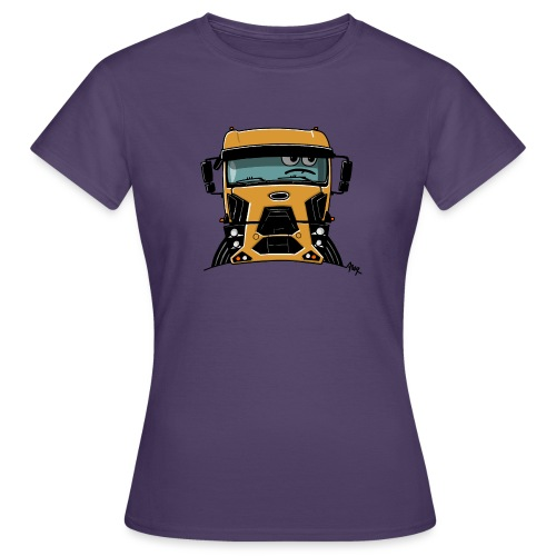 0812 F truck geel - Vrouwen T-shirt