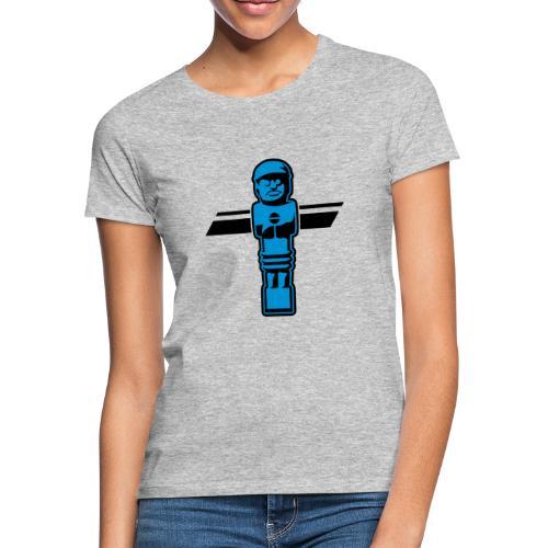 Soccerfigur 2-farbig - Kickershirt - Frauen T-Shirt