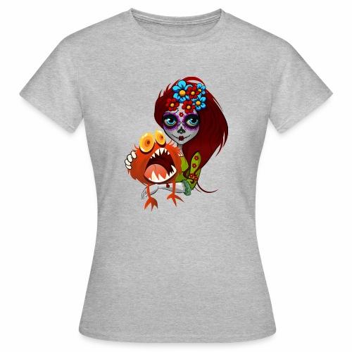 Catrina con Monstruo - Camiseta mujer