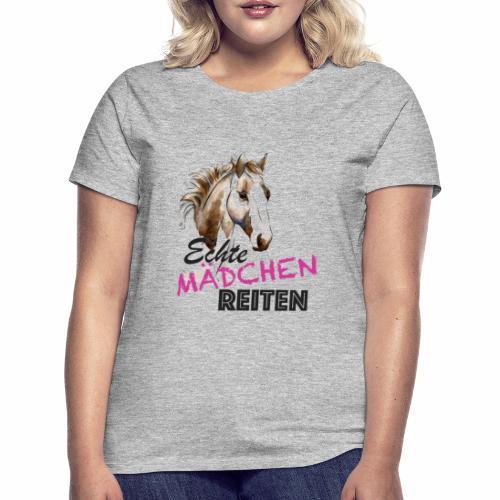 Echte Mädchen reiten - Schwarz - Frauen T-Shirt