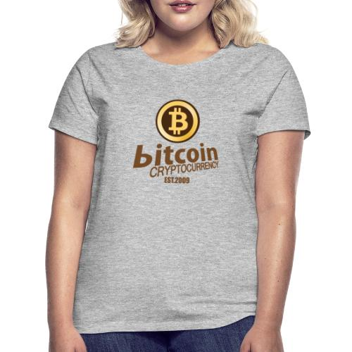 Bitcoin Cryptocurrency - Vrouwen T-shirt