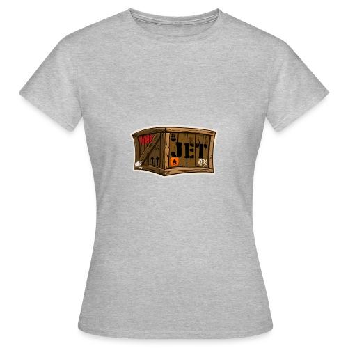 Jet Cartoon Wood Box - Frauen T-Shirt