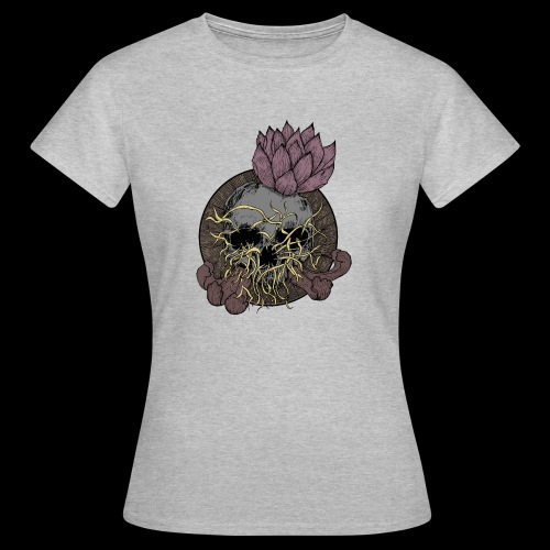Skull tête de mort et fleur de lotus - T-shirt Femme