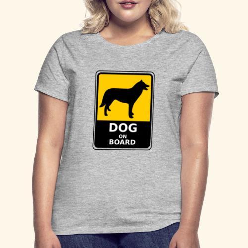 cartel perro - Camiseta mujer