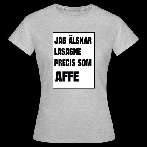 Affe älskar lasagne - T-shirt dam