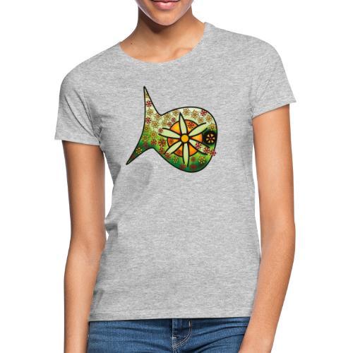 Blüten Fischdesign - Frauen T-Shirt