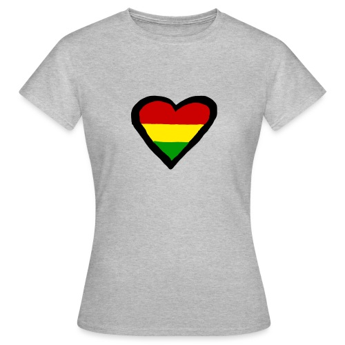 LOGO 1 RASTA BACKWARDS - Vrouwen T-shirt