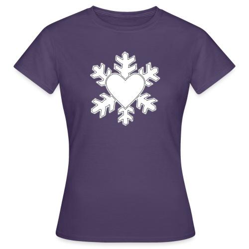 Flocon coeur 3D - T-shirt Femme