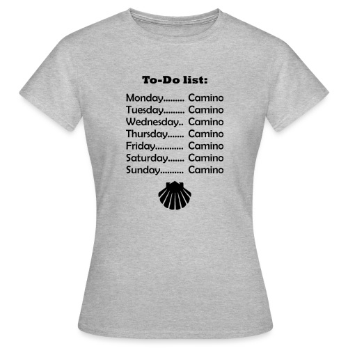To-do list: Camino - Dame-T-shirt