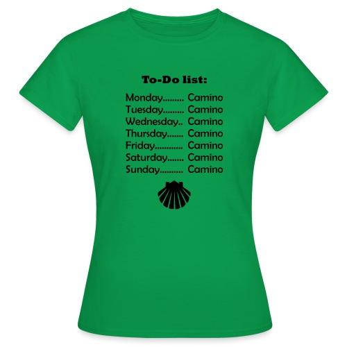 To-do list: Camino - Dame-T-shirt
