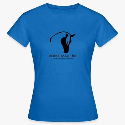 Horse Majeure Logo / Musta - Naisten t-paita