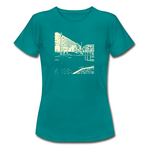 helsinki railway station pattern trasparent beige - Women's T-Shirt