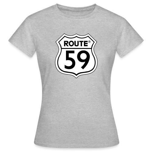 Route 59 zwart wit - Vrouwen T-shirt