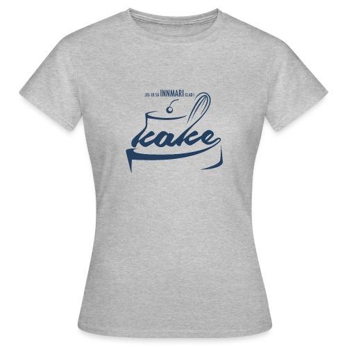 Innmari glad i kake - T-skjorte for kvinner
