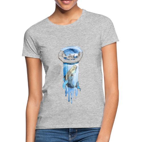 Wal im Abfluss (Whale in the Drain) - Frauen T-Shirt