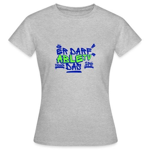 AbleTV Grafitti Logo Marken Shirt (Er Darf Das) - Frauen T-Shirt