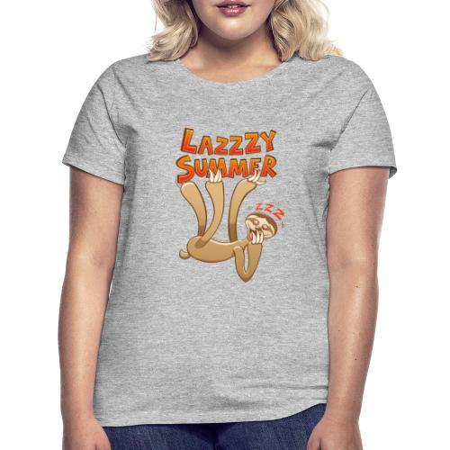 Sleepy sloth yawning and enjoying a lazy summer - Women's T-Shirt