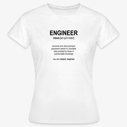 Engineer Def. 1 (Black) - T-shirt Femme