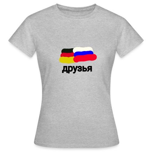 друзья /Deutsch - Russische Freundschaft - Frauen T-Shirt