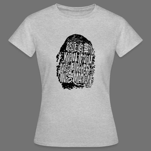 Fingerprint DNA (black) - Frauen T-Shirt