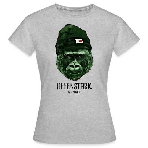 Gorilla Mütze affenstark - Frauen T-Shirt