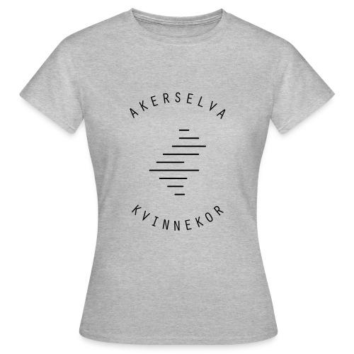 Akerselva kvinnekor svart logo - T-skjorte for kvinner
