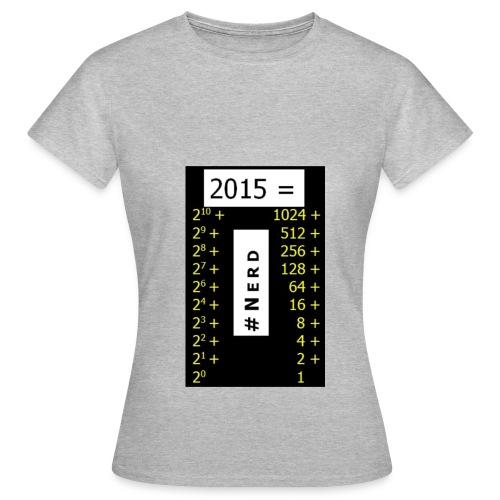 2015 Nerd3 jpg - Frauen T-Shirt