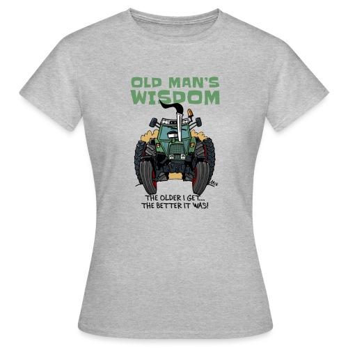 0163 oldmanswisdom F 307ls - Vrouwen T-shirt