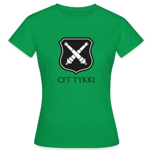 Tykki logo musta - Naisten t-paita