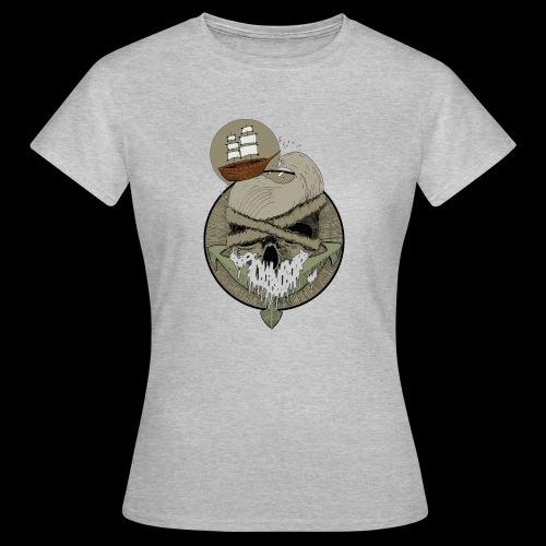 Ancre skull - T-shirt Femme