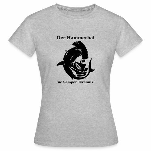hammerhai schwarz - Frauen T-Shirt