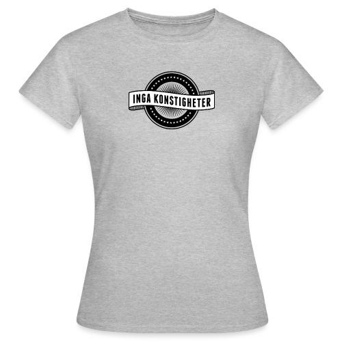 Inga Konstigheters klassiska logga (ljus) - T-shirt dam