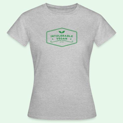 Intolerable Vegan Logo - Green - T-shirt dam