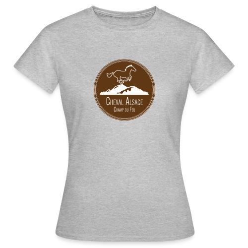 cheval alsace brun - T-shirt Femme