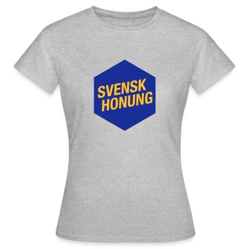 Svensk honung Hexagon Blå/Gul - T-shirt dam