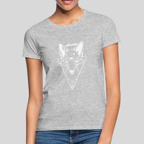 Fuchs Geometrie weiß - Frauen T-Shirt