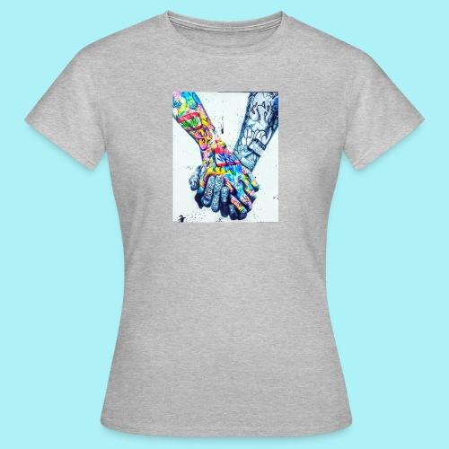 Main dans la main tatoués - T-shirt Femme