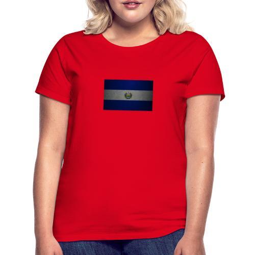 thumb2 flag of el salvador 4k leather texture nort - Camiseta mujer