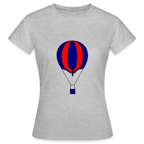 Gasballon blau rot gestreift unprall - Frauen T-Shirt