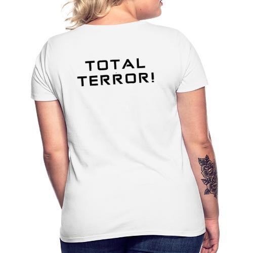 Black Negant logo + TOTAL TERROR! - Dame-T-shirt