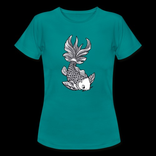 Pesce Tattoo Flash - Maglietta da donna