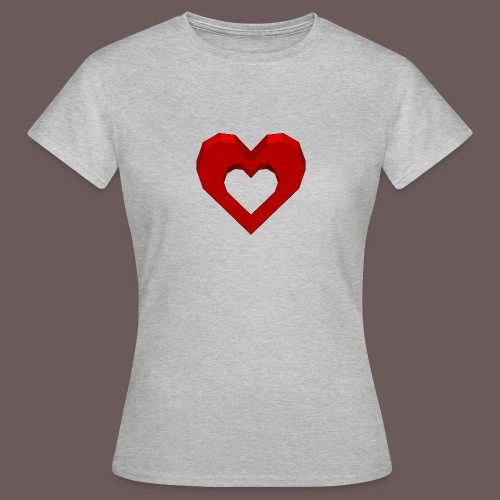 Heart Illusion - Dame-T-shirt